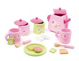Teeservice rosa  17 Teile / F