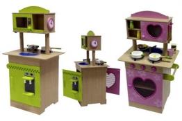 Top Spielküche Kinder Küche aus Holz beidseitig mit Zubehör