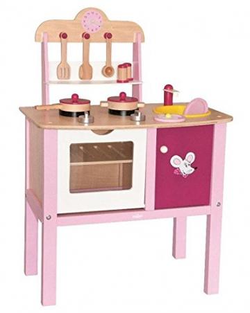 Woodyland 90313 - Spielküche Trendy mit viel Zubehör aus Holz