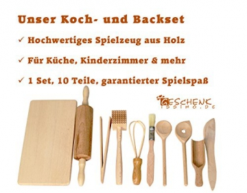 Back- und Kochset für Kinder – tolles Spielzeug für die Kinderküche und als Kaufladenzubehör -