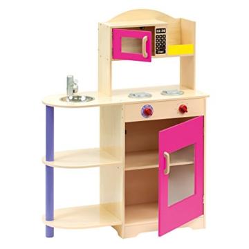 Bino 83723 – Kinderküche mit Mikrowelle, Küchenspielzeug -