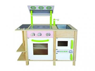 Große moderne Designer Woody Holz Kinderküche auf 2 Seiten vielfältig bespielbar -