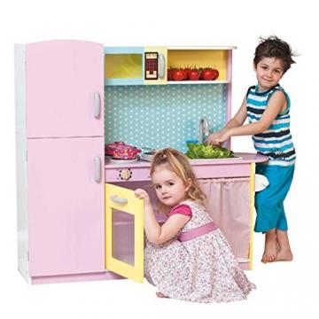 Große moderne Designer Woody Holz Kinderküche mit vielfältigen Spielmöglichkeiten -