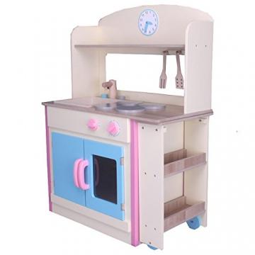 habeig® Kinderküche #797 mit AUSROLLBAREM Tisch Spielküche Küche ...
