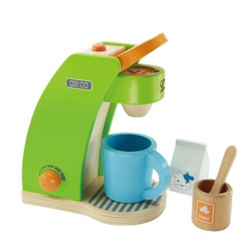 Hape Kaffeemaschine aus Holz Kinder Küchenspielzeug für Kaufladen Kinderküche Spielküche Rollenspiele -