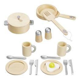 howa Küchenset aus Holz für Spielküche 16 tlg. 4868