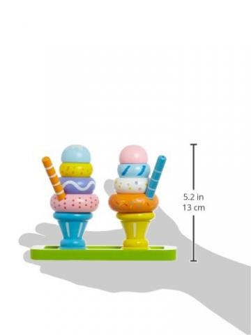 Idena 4100110 – Kleine Küchenmeister Eisbecher – Set aus Holz, 15 teilig, circa 15 x 10 x 10 cm -