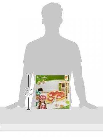 Idena 4100115 – Kleine Küchenmeister Pizza – Set inklusive Pizzaschieber aus Holz, 18 teilig, circa 28 x 28 x 3 cm -