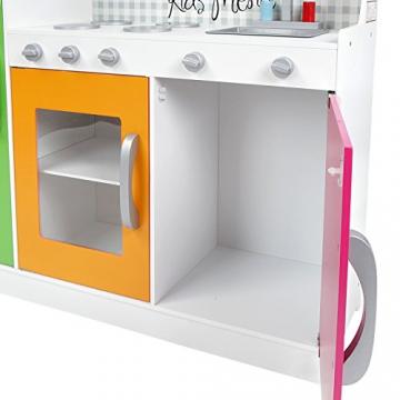 Infantastic Spielküche Kinderküche Kinderspielküche mit 4 Herdplatten, Ofen, Kühlschrank, Spülmaschine -