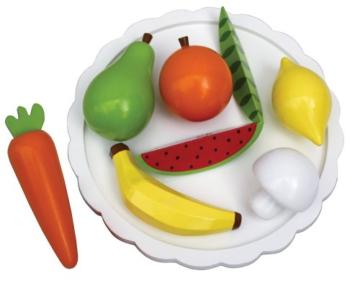 JaBaDaBaDo Teller mit Obst und Gemüse aus Holz -