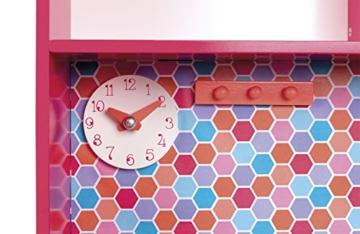 Janod Holzspielzeug – Kinderküche Spielküche Holzküche – Uhr Ofen Waschbecken, 87x55x30cm, Mehrfarbig -