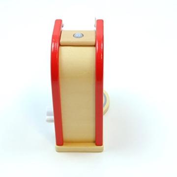 Kaffeemaschine mit Kaffeepad, Kaffeetasse und drehbarem Schalter mit Klickgeräuschen / Material: Holz / für Kinder ab 3 Jahren geeignet -