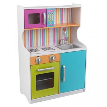 kidkraft kinder holz spielk che bright toddler kitchen. Black Bedroom Furniture Sets. Home Design Ideas