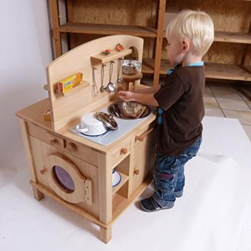 """Kinderküche / Holzkinderküche """"Cinderella"""" 2050 von Holzspielzeug-Peitz.de Kinder Küche Holz geölt massiv Waschmaschine Backofen Spüle Herd -"""