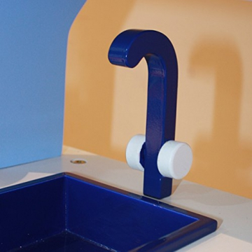 Kinderküche Spielküche BLAU aus Holz mit Zubehör -