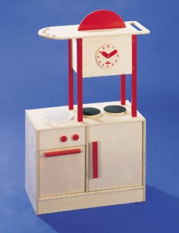 Kinderküche Spielküche Holzküche inkl. Funktionierender Spüle Höhe 98 cm x Breite 65 cm x Tiefe 35 cm von Elka 7931 -