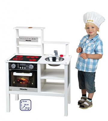 Klein 9458 – Miele Küche aus Holz, mittel, weiß -