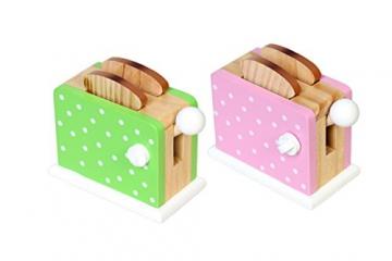 Magni Holz-Toaster mit Pop-Funktion für die Kinder-Spielküche mit 2 Toast-Scheiben in verschiedenen Farben erhältlich -