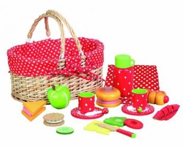 Picknick-Korb im Erdbeerdesign -