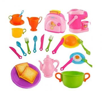 Rosa Pretend Topfset Kunststoff Küchenzubehör Set spielen -