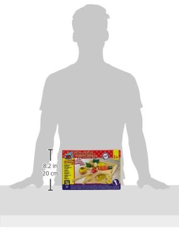 Small Foot by Legler Schneidespielzeug aus Holz, verschiedene Lebensmittel zum Zerteilen und Zusammenfügen, inkl. kleinem Brettchen, Tablett und Besteck -