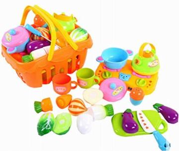 Spielen Sie Lebensmittel Spielen Kitchen Set für Kinder, Gemüse Serie, 14pcs -