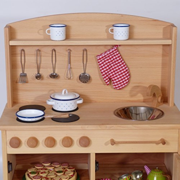 Spielküche 2024 | aus massivem Holz | Natürlich Ökologisch Kinderküche | Qualität von Holzspielzeug-Peitz -