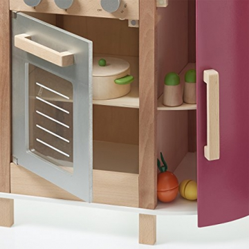 spielk che gourmet station aus holz drehkn pfe mit. Black Bedroom Furniture Sets. Home Design Ideas