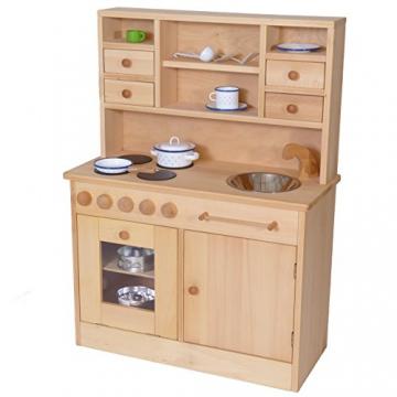 Spielküche | Kinderküche 2011 | aus massivem Buchenholz | Naturbelassen | Spielvergnügen lange garantiert | von Holzspielzeug-Peitz Neu -