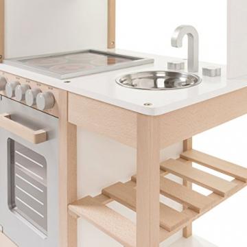 SUN Kinderküche Natur-Weiss aus Holz -
