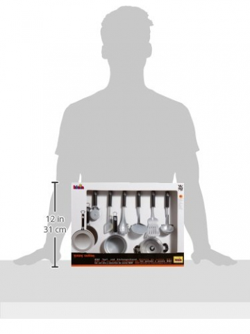 Theo Klein 9428 – WMF Topf- und Küchengeräte Set, 9 Teile, Spielzeug -