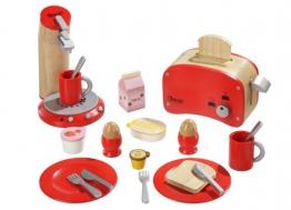 tolles rotes Frühstücksset aus Holz von howa 48562
