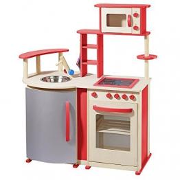 topmoderne Spielküche aus Holz von howa natur / rot