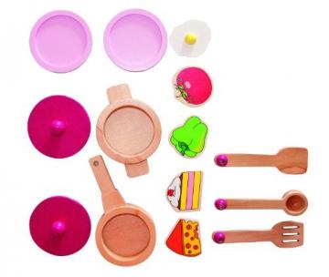 Woodyland 90313 – Spielküche Trendy mit viel Zubehör aus Holz -